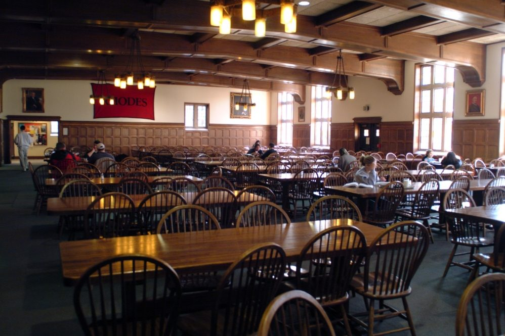 The dining hall of the Rat