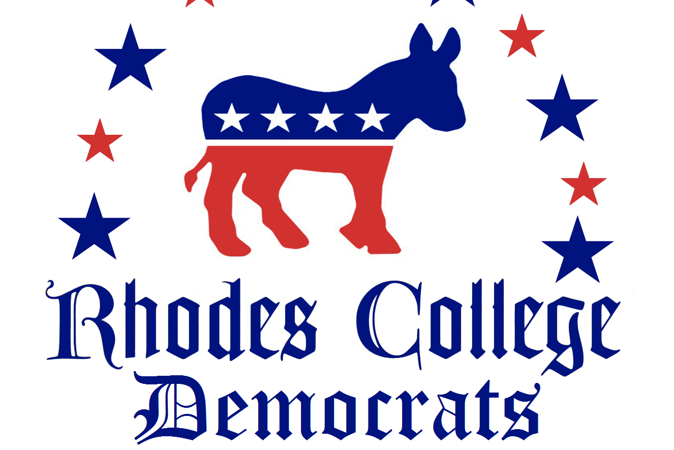 The Rhodes College Democrats' logo