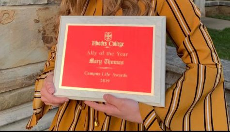 Mary Thomas '21, named Ally of the Year, speaks out against the award