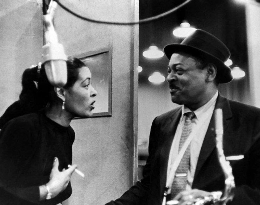 Billie Holiday (left) and Lester Young (right)